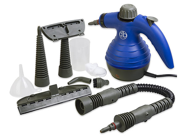 A bed bug steaming machine with attachments and accessories